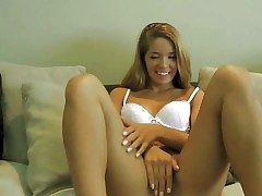 Adorable blonde teen with smoking hot body added to throb legs